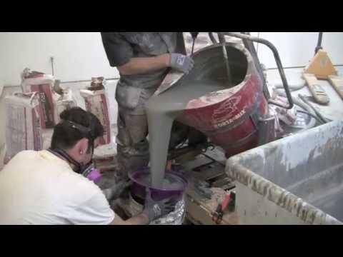 CSU PORTAMIX HIPPO Mixing 5 Bags of TRU Self-Leveling Flooring Compound