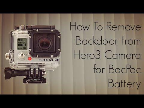 GoPro Tip #1 How To Remove Backdoor from Hero3 Camera for BacPac Battery - PhoneRadar