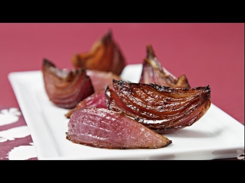 Balsamic Roasted Red Onions