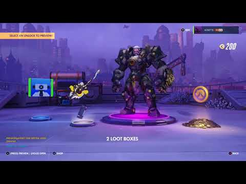 Overwatch OE Opening 4 Loot Boxes