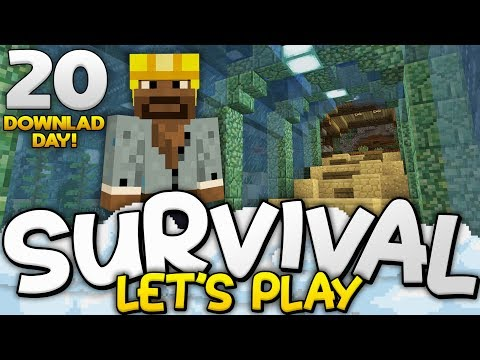 MASSIVE AQUARIUM TUNNEL!!! - Survival Let's Play Ep. 20 (DD) - Minecraft Bedrock (PE W10 XB1)