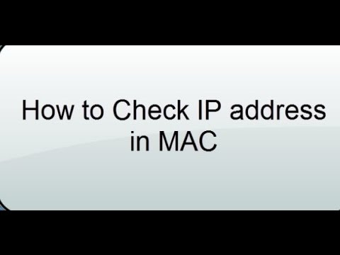 How to check IP Address in Apple MAC