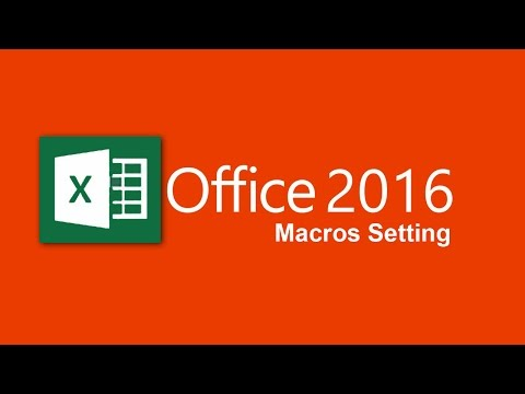 How to enable macros in excel 2016