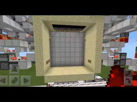 minecraft pe-7x7 piston door + map !