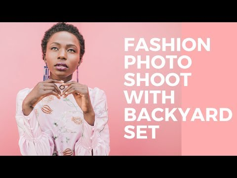How to Do a Fashion Photoshoot with a Backyard Set | Behind the Scenes