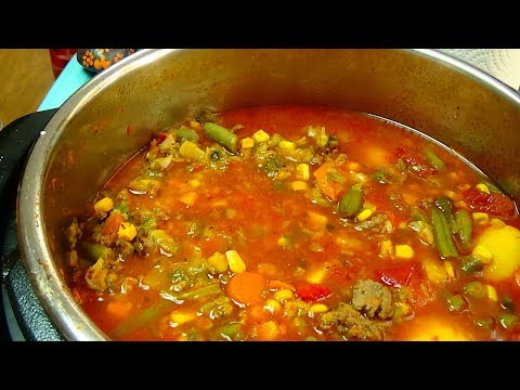 MY NEW INSTANT POT - - Start Up Test and Recipe for Delicious Hamburger Soup with Unique Ingredient