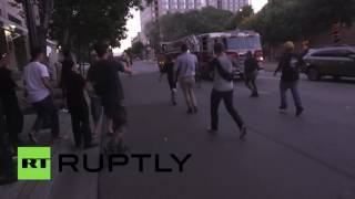 Trump supporters and protesters clash as San Jose rally turns violent