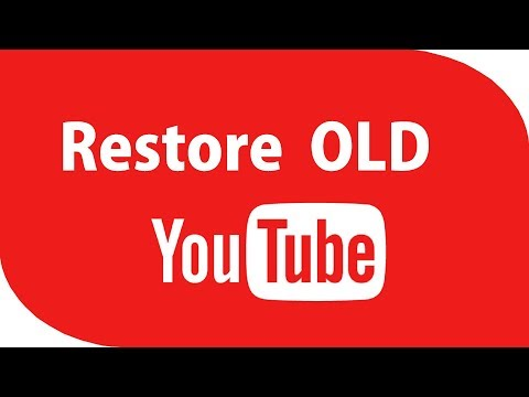 How To Restore The OLD YouTube Layout 2017 & How To Enable YouTube Dark Mode