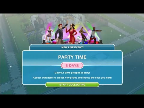 Simsfreeplay - Party Time Live Event