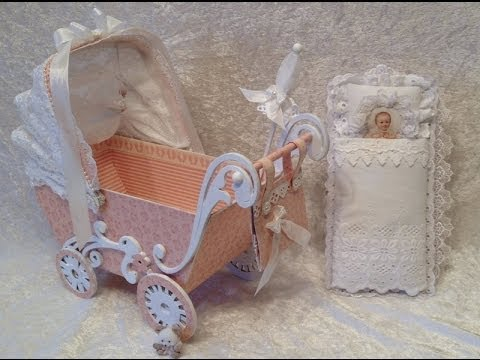 Sweet baby stroller with mini album inside - Blog tutorial. Pion Design GDT project