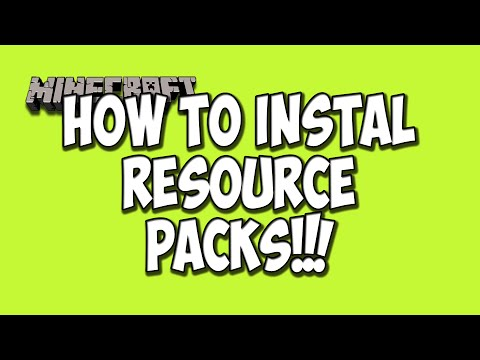 How To Install Resource Packs(Sound Packs and Texture Packs for Minecraft 1.8)