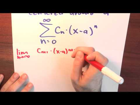 What is a power series centered around a? - Week 5 - Lecture 7 - Sequences and Series