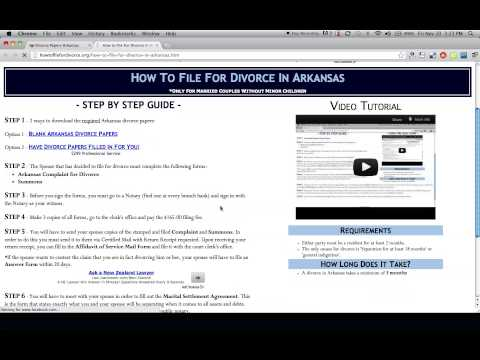 Free Arkansas Divorce Papers and Forms