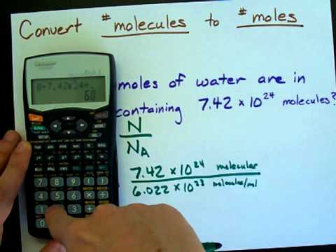 Convert Number of Molecules into Number of Moles