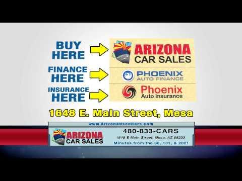 Financing for everyone at Arizona Car Sales in Mesa, Arizona!