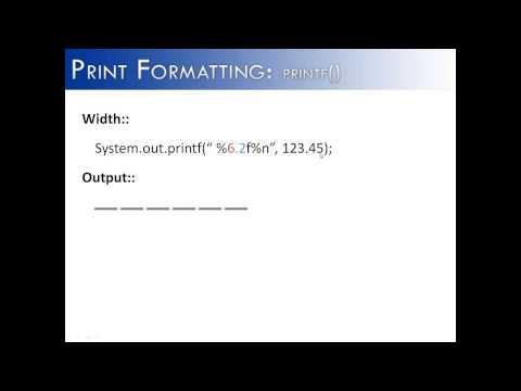 Print Formatting Part 4: printf() Width (Java)