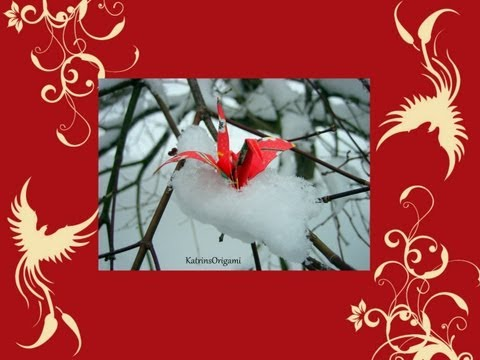 Origami ☯ Peace Crane ☯ traditional