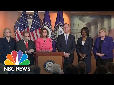 Nancy Pelosi Introduces House Managers For The Senate Impeachment Trial   NBC News