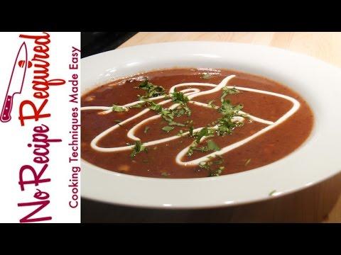 Bacon & Black Bean Soup - NoRecipeRequired.com
