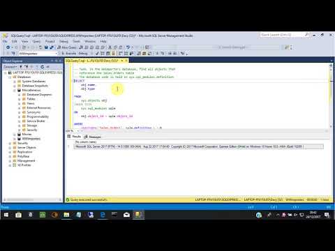 Search for text in database objects in SQL Server