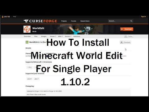 Minecraft: How To Install World Edit 1.10.2 - With Forge!