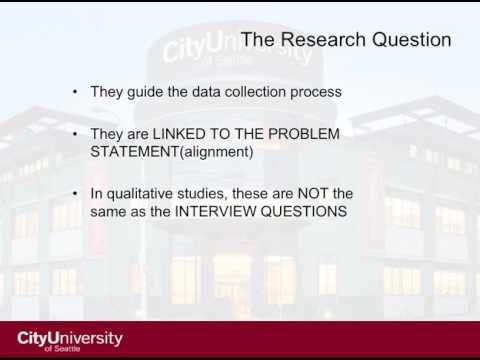 Aligning problem statements, purpose statements, research questions, and methodology