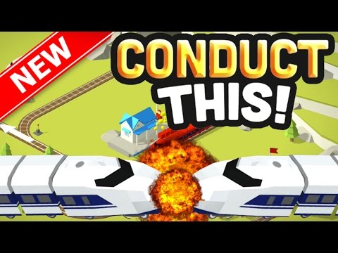 STOPPING TRAINS FROM CRASHING!!   NEW ADDICTIVE Conduct THIS Game!   (IOS/Android)
