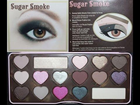 Too Faced Chocolate Bon Bons Sugar Smoke Eye make up look