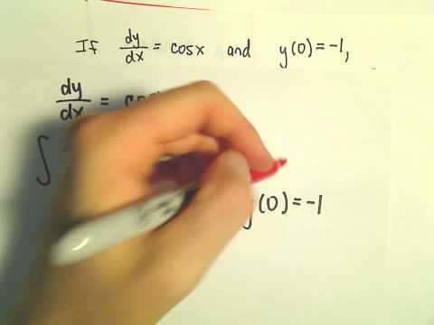 Basic Differential Equation with an Initial Condition