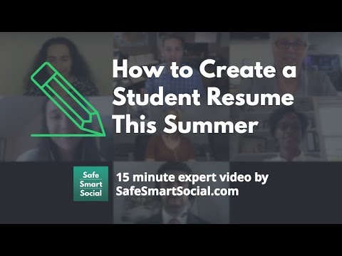 How to Create a Student Resume This Summer