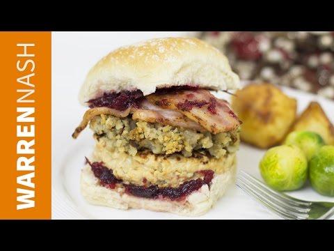 Christmas Burger Recipe - Best Turkey Burger at Home - Recipes by Warren Nash