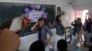 Indian College Girls Celebration with a Dance