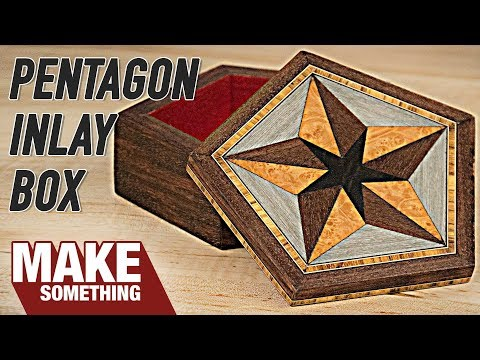 Making a Wood Box with Veneer, Inlay and Marquetry | Woodworking Project