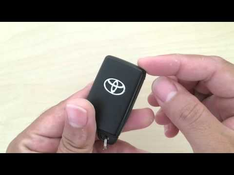How to change Toyota wireless remote smart key's battery