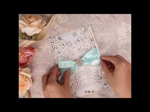 Exquisite Snowflake Laser Cut Wholesale Wedding Invitations