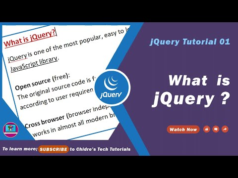 jQuery video tutorial 01 - What is jQuery?