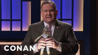 Andy Gets Out In Front Of Another Scandal  - CONAN on TBS