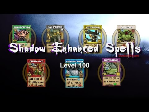 Wizard101 All New Spells -Shadow Enhanced  - All Seven!  (Test Realm)