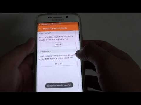 Samsung Galaxy S6 Edge: How to Export Contacts to vCard File (vcf)
