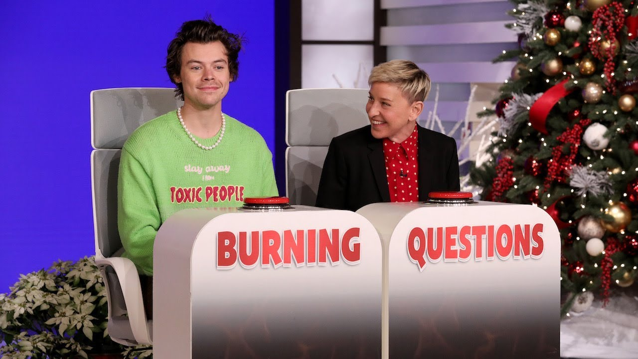 Harry Styles Answers Ellen's 'Burning Questions'