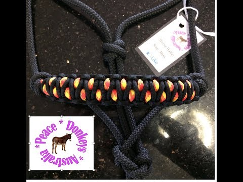 flame noseband - very easy paracord noseband for rope horse halter (solomon's dragon)