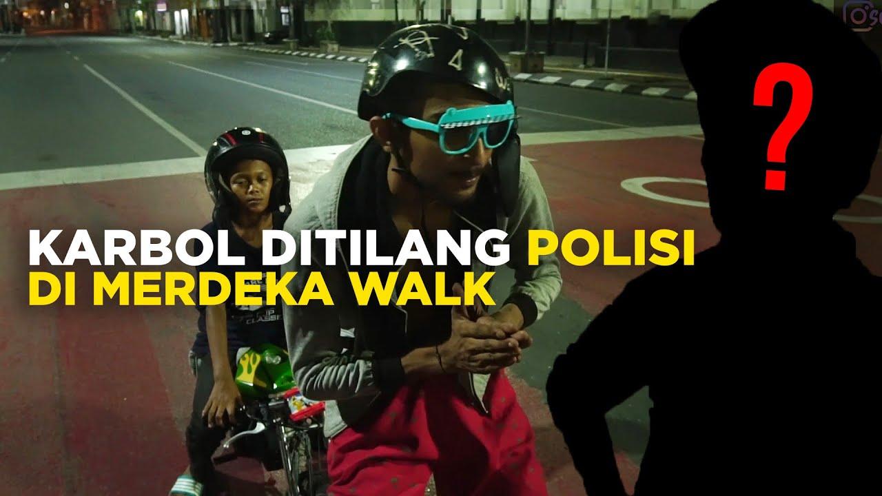 KARBOL DITILANG POLISI DI MERDEKA WALK !!! #karbol #karbolgilak