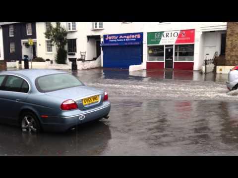 Southend-on-Sea flood, Sea life centre.