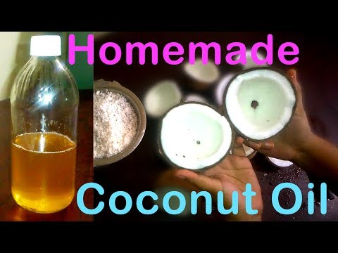 Home-Made Pure Coconut Oil-- For Hair/Face//Easy Way