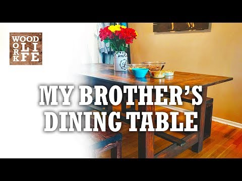 DIY Dining Table Made w/ Reclaimed Gym Bleachers - So Much Gum & Butts | Builds