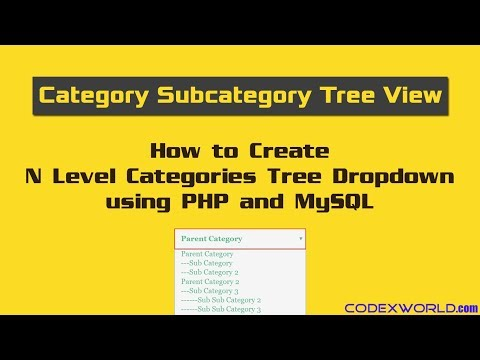 Dynamic Category Subcategory Tree using PHP and MySQL