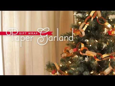 How to Make Paper Garland for Your Christmas Tree