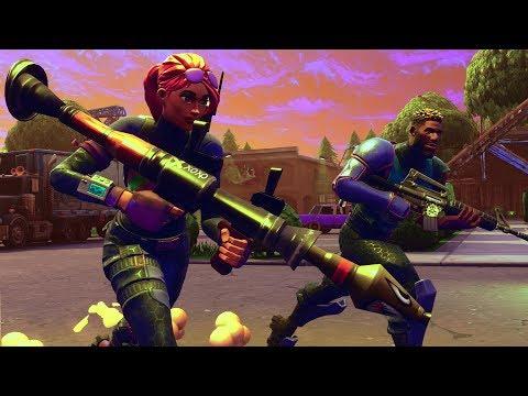 BRIGHT GUNNER AND BOMBER CHALLENGE in Fortnite Battle Royale (RAINBOW GUNS)