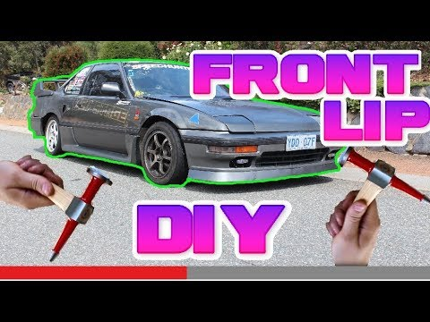 How to fabricate a front lip.  NO MORE GARDEN EDGING!!!