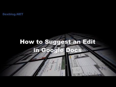 How to Suggest an Edit in Google Docs